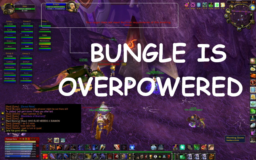 Bungle is ovwerpowered
